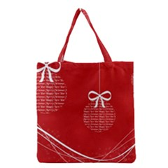 Simple Merry Christmas Grocery Tote Bag