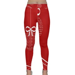 Simple Merry Christmas Classic Yoga Leggings