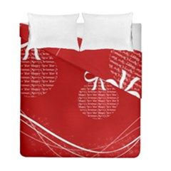 Simple Merry Christmas Duvet Cover Double Side (Full/ Double Size)