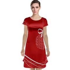 Simple Merry Christmas Cap Sleeve Nightdress