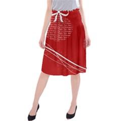 Simple Merry Christmas Midi Beach Skirt