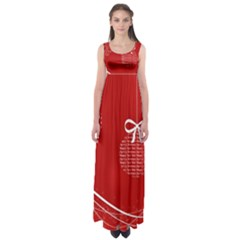 Simple Merry Christmas Empire Waist Maxi Dress