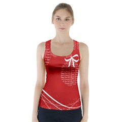 Simple Merry Christmas Racer Back Sports Top