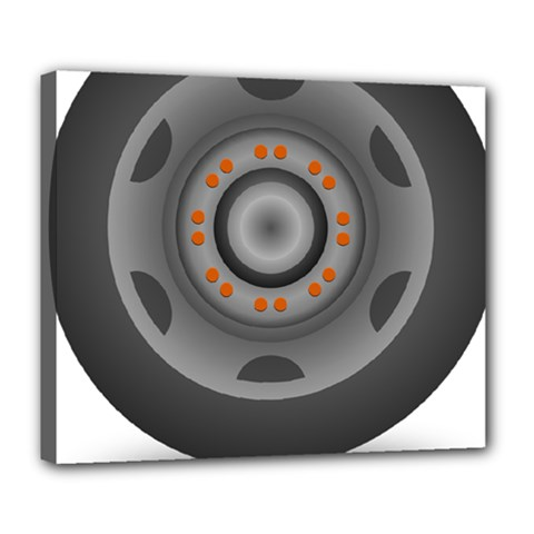 Tire Tyre Car Transport Wheel Deluxe Canvas 24  x 20