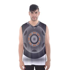 Tire Tyre Car Transport Wheel Men s Basketball Tank Top