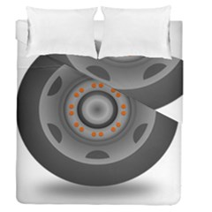 Tire Tyre Car Transport Wheel Duvet Cover Double Side (Queen Size)
