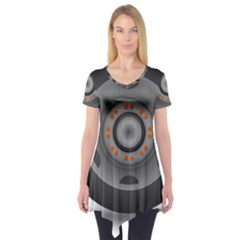 Tire Tyre Car Transport Wheel Short Sleeve Tunic