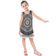 Tire Tyre Car Transport Wheel Kids  Sleeveless Dress