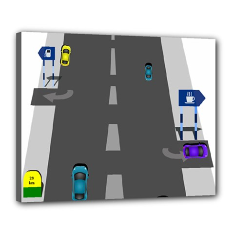 Traffic Road Driving Cars Highway Canvas 20  x 16