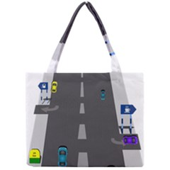 Traffic Road Driving Cars Highway Mini Tote Bag