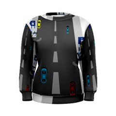 Traffic Road Driving Cars Highway Women s Sweatshirt