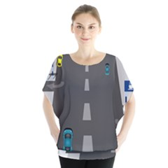 Traffic Road Driving Cars Highway Blouse