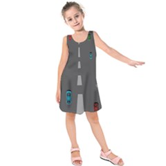 Traffic Road Driving Cars Highway Kids  Sleeveless Dress