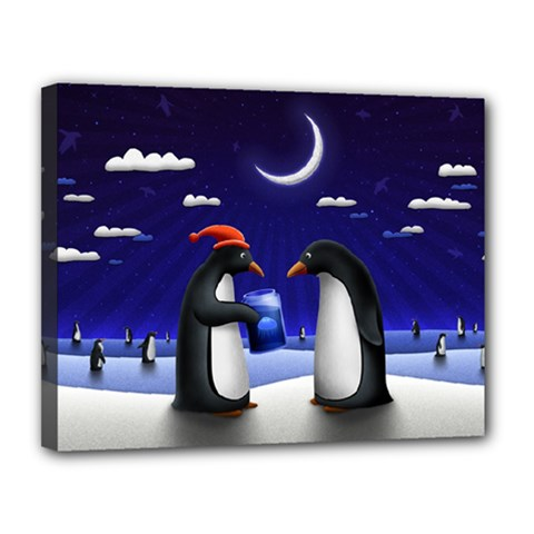 Small Gift For Xmas Christmas Canvas 14  x 11