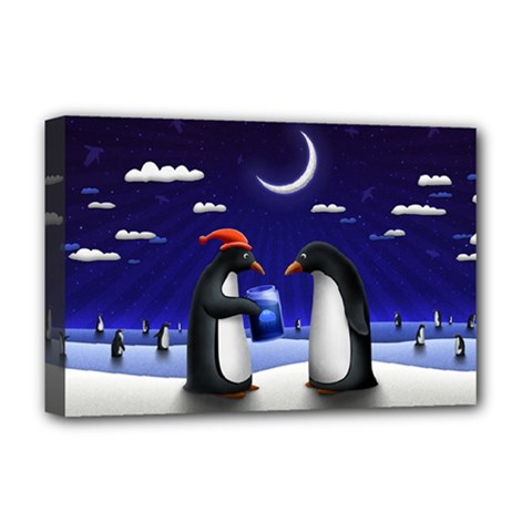 Small Gift For Xmas Christmas Deluxe Canvas 18  x 12