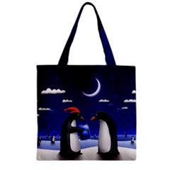 Small Gift For Xmas Christmas Zipper Grocery Tote Bag