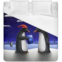 Small Gift For Xmas Christmas Duvet Cover (King Size)