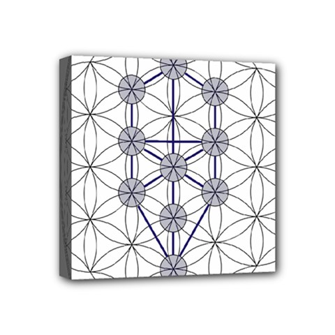 Tree Of Life Flower Of Life Stage Mini Canvas 4  x 4