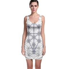 Tree Of Life Flower Of Life Stage Sleeveless Bodycon Dress
