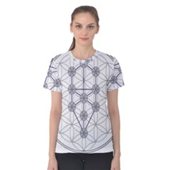 Tree Of Life Flower Of Life Stage Women s Cotton Tee