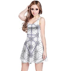 Tree Of Life Flower Of Life Stage Reversible Sleeveless Dress