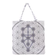 Tree Of Life Flower Of Life Stage Grocery Tote Bag