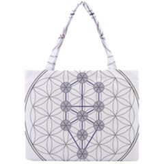 Tree Of Life Flower Of Life Stage Mini Tote Bag