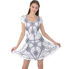 Tree Of Life Flower Of Life Stage Cap Sleeve Dresses