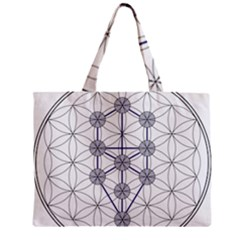 Tree Of Life Flower Of Life Stage Zipper Mini Tote Bag
