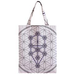 Tree Of Life Flower Of Life Stage Zipper Classic Tote Bag