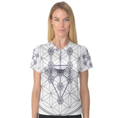 Tree Of Life Flower Of Life Stage Women s V-Neck Sport Mesh Tee