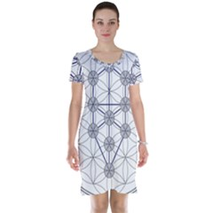 Tree Of Life Flower Of Life Stage Short Sleeve Nightdress
