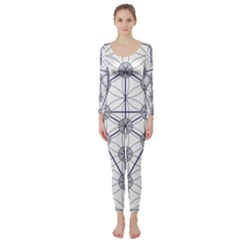 Tree Of Life Flower Of Life Stage Long Sleeve Catsuit
