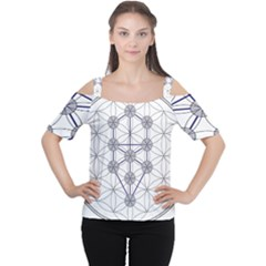 Tree Of Life Flower Of Life Stage Women s Cutout Shoulder Tee