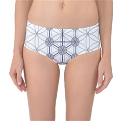 Tree Of Life Flower Of Life Stage Mid-Waist Bikini Bottoms