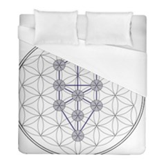 Tree Of Life Flower Of Life Stage Duvet Cover (Full/ Double Size)