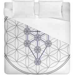 Tree Of Life Flower Of Life Stage Duvet Cover (King Size)