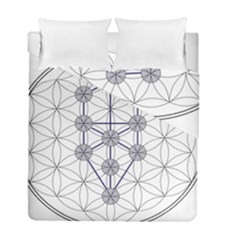 Tree Of Life Flower Of Life Stage Duvet Cover Double Side (Full/ Double Size)