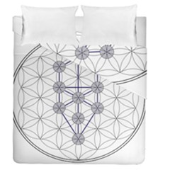 Tree Of Life Flower Of Life Stage Duvet Cover Double Side (Queen Size)