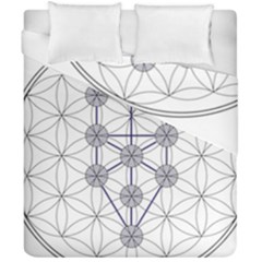 Tree Of Life Flower Of Life Stage Duvet Cover Double Side (California King Size)