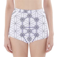 Tree Of Life Flower Of Life Stage High-Waisted Bikini Bottoms