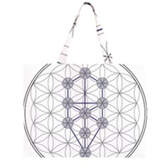 Tree Of Life Flower Of Life Stage Large Tote Bag