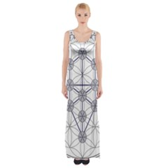 Tree Of Life Flower Of Life Stage Maxi Thigh Split Dress