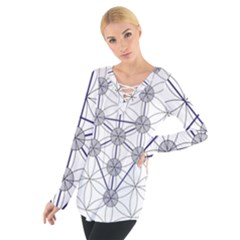 Tree Of Life Flower Of Life Stage Women s Tie Up Tee