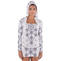 Tree Of Life Flower Of Life Stage Women s Long Sleeve Hooded T-shirt