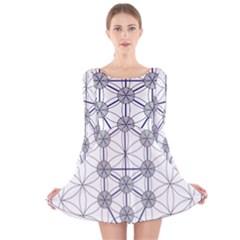 Tree Of Life Flower Of Life Stage Long Sleeve Velvet Skater Dress
