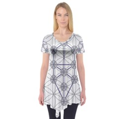 Tree Of Life Flower Of Life Stage Short Sleeve Tunic