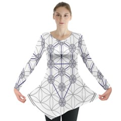 Tree Of Life Flower Of Life Stage Long Sleeve Tunic