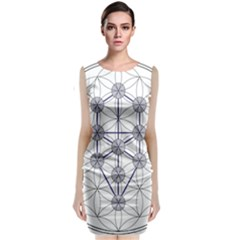 Tree Of Life Flower Of Life Stage Classic Sleeveless Midi Dress