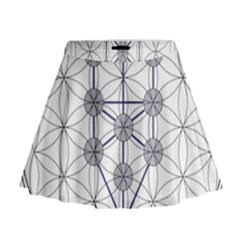 Tree Of Life Flower Of Life Stage Mini Flare Skirt